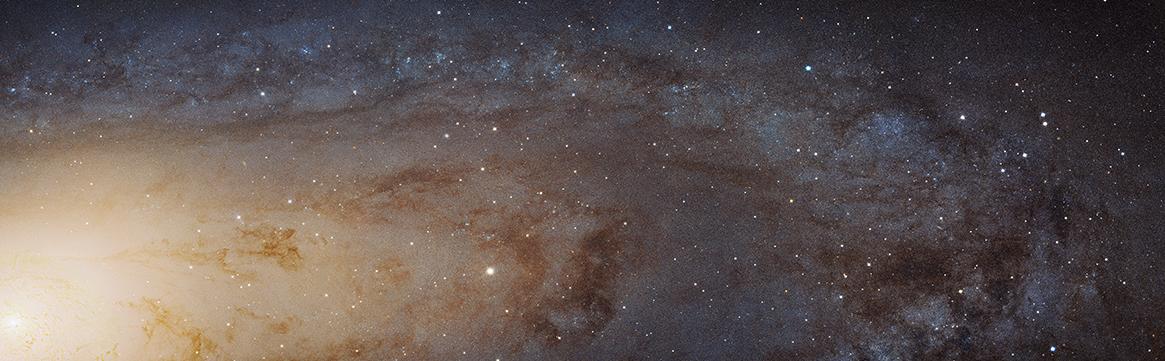 La galassia Andromeda fotografata ad altissima risoluzione dal telescopio Hubble (credits: NASA, ESA)