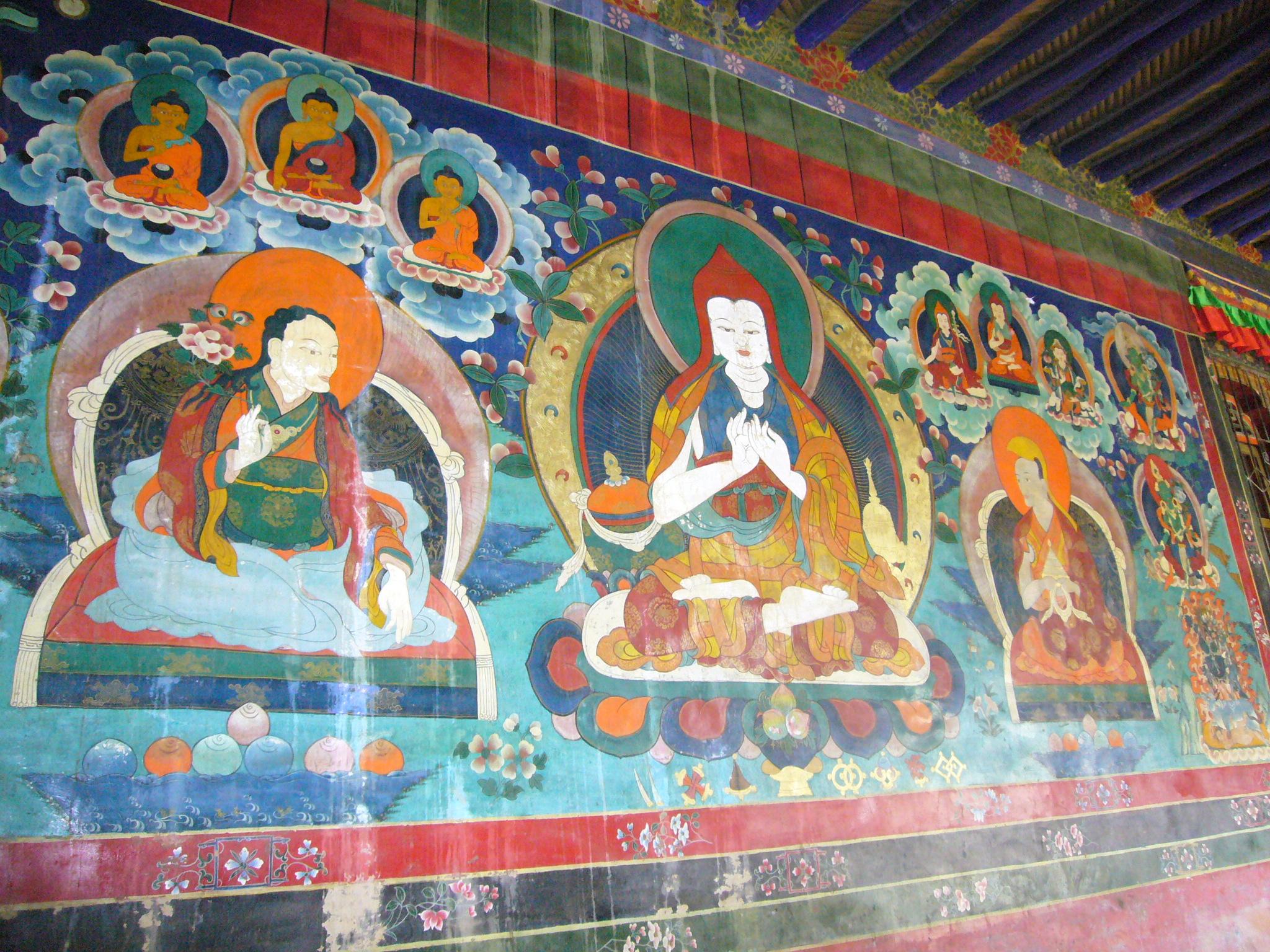 Dipinti del monastero di Nyetang Dolma Lhakhang - Shigatze (credits: Giuliana Miglierini)
