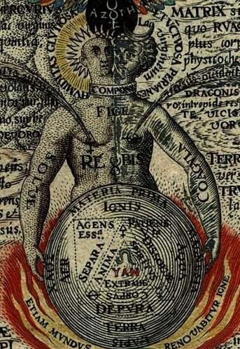 Solvae et coagula (dettaglio del Rebis, A. Khunrath, 1602)