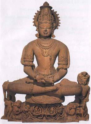 Vishnu in forma di Yoga Narayana, l'impersonificazione dell'obiettivo dello yoga