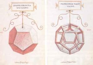 Il dodecaedro (disegni di Leonardo per Luca Pacioli)