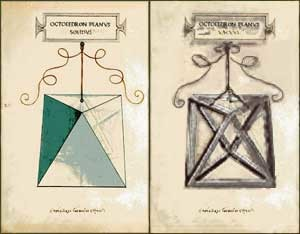 L'ottaedro (disegni di Leonardo per Luca Pacioli)