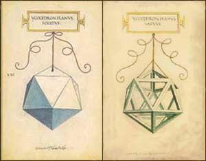 L'icosaedro (disegni di Leonardo per Luca Pacioli)